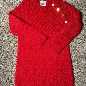🎀3/$12🎀Toddler Red Sweater Dress 4T
